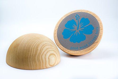 Good Wood Balance Disc - 3D Gleichgewichts- & StabilitätsTrainer Ø15cm - 2er Set - Naturprodukt