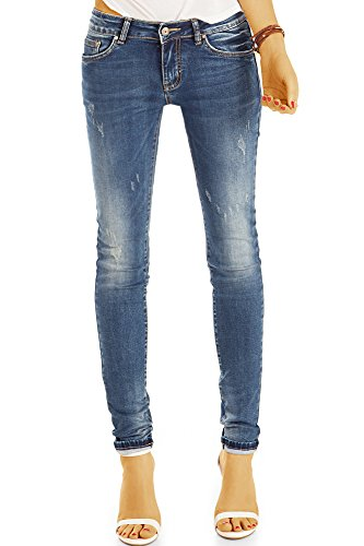 Jeans Enge Für Frauen (Bestyledberlin Damen Used Look Skinnyjeans, Enge aufgeraute Jeans, Basic Röhrenjeans j15g 36/S)