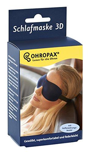 Ohropax Schlafmaske 3D blau, 1er Pack (1 x 1 Stück) (Maske Schlaf)