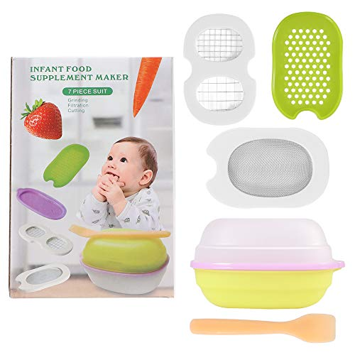 Zafos 7 in 1 Food Maker/Food Masher for Baby, Portable Baby Feeder Food Processor Serve Bowl Vegetables Fruit Grinder