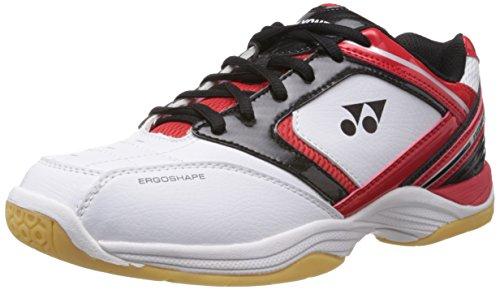 Yonex Excerol 301 Badminton Shoes, UK 6 (White/Red/Black)