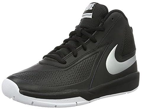 Nike Team Hustle D 7 (GS) Chaussures de basket-ball, Garçons, Noir, 37 1/2