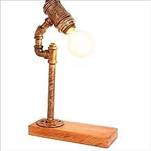 Lily Madera sólida Ajustable de Dimmable, lámparas del Hierro labrado, lámparas Simples de la