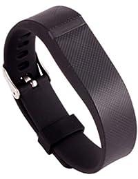 Malloom Muñequeras de recambio banda de reloj correa para Fitbit Flex pulsera Wristband Con Metal hebilla (negro)