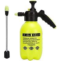 Pulverizador de presión de una sola mano, 2 litros, botella de spray portátil para jardín, hervidor de plantas, herramienta de riado, agarre ergonómico para jardinería, fertilización, limpieza y uso general