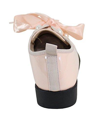 By Shoes Scarpe Stringate Basse Donna Rosa