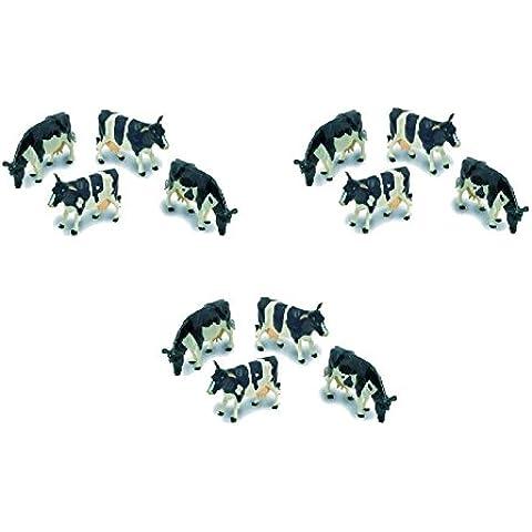 Britains Farmyard  Le mucche frisone (confezione da 12 mucche/bue), Modelli assortiti