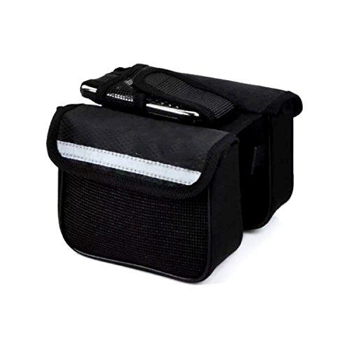 OGTOP Mountainbike Tasche Touchscreen-Telefon Tasche Bevor Die Tasche Wasserdichte Satteltasche Ausrüstung Zubehör Black