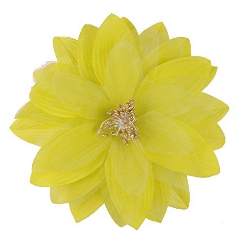 Johnny Loves Rosie - Broche para pelo, diseño de flor, color verde lima