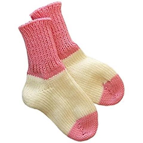 Calcetines 100% lana de merino bebé calentadores de la pierna de punto