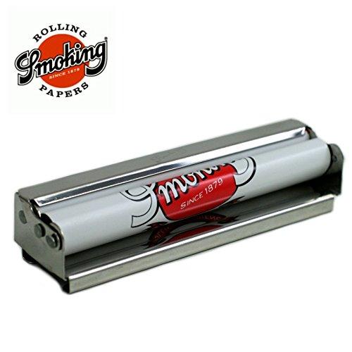 Smoking Zigarettendrehmaschine, Metall, mit Fach für Zigarettenpapier-Heftchen, 11cm
