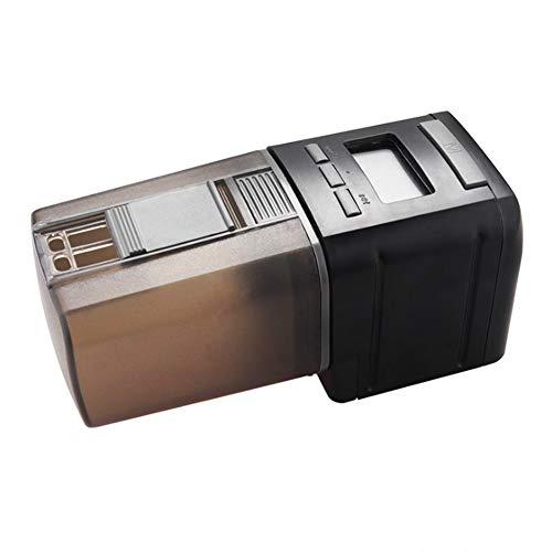 D&F Dispensador Automático De Alimento para Peces con Pantalla LCD Y El Tiempo De Alimentación Configuración, Adecuado para Acuario, Tanque De Peces Y Tortuga