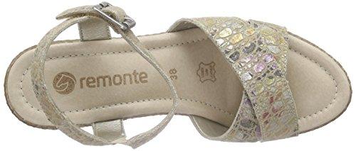 Remonte Dorndorf - D1052, Scarpe col tacco con cinturino a T Donna Beige (Beige (beige / 90))