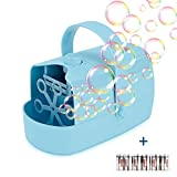 Supkiir Automatic Bubble Machine, Bubble Blower for Kids Powered by Plug-in or Batteries