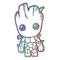 Baby Groot Holographic Sparkles - novelty funny car van bike window bumper laptop vinyl decal sticker