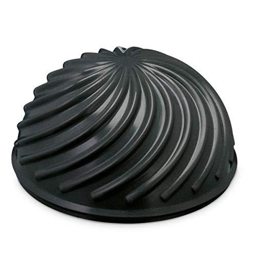 PINOFIT Halbball Wave - für Balance- und Koordinationsübungen - Ideal für Fussmassage - Einstellbarer Druck (Black)