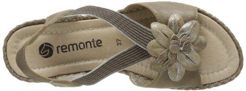 Remonte D6761 90, Sandales compensées femme Or (Métallique)