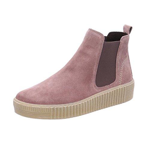 Gabor Damen Chelsea Boots 93.731,Frauen Stiefel,Halbstiefel,Stiefelette,Bootie,Schlupfstiefel,flach,Blockabsatz 1.3cm,F Weite (Normal),Dark-Rose (Natur),UK 4.5