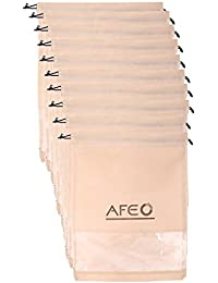 AFEO Men's Non-Woven Fabric Shoe Bag with clear window (gr-pvc-beige_10) - Pack of 10