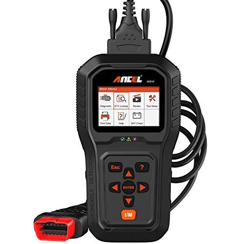 ANCEL AD510 OBD2 Diagnosegerät KFZ Deutsch Fehlerspeicher lesen und löschen OBD II Scanner Diagnose scan Tool mit Batteriespannung Test