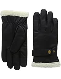 Isotoner Smartouch Mens Pu Glove With Berber Cuff - Gants - Homme