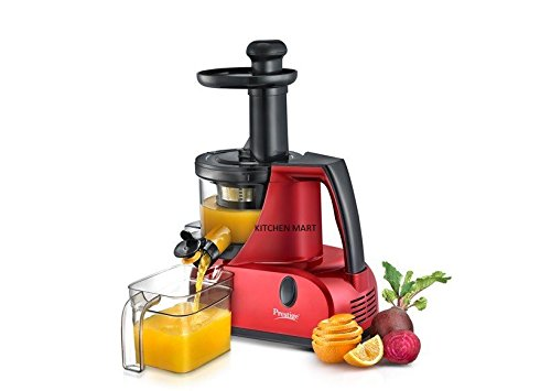 Prestige Squeezo Slow And Silent Juicer PSJ 3.0, 200 watts (Red)