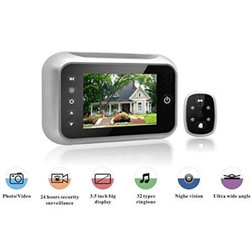 Zantec 3,5 Zoll Weitwinkel Smart Video Türklingel mit HD Kamera Nigh Vision Security Monitor
