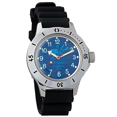 Vostok anfibio 2415120656russo militare orologio meccanico