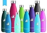 KollyKolla Vakuum Isolierte Edelstahl Trinkflasche, 750ml BPA Frei Wasserflasche Auslaufsicher, Thermosflasche für Sport, Outdoor, Fitness, Kinder, Schule, Kleinkinder, Kindergarten (Saphirblau)