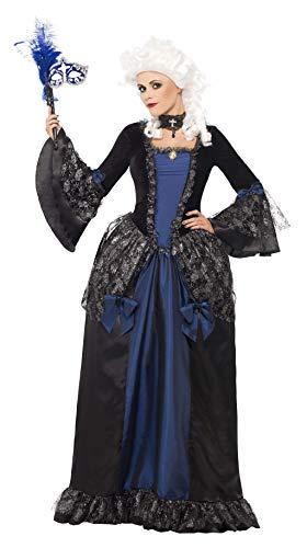 Ideen Kostüm Maskeraden Für - Smiffys Damen Barocke Schönheit Maskerade Kostüm, Kleid mit Peplums, Größe: M, 25438