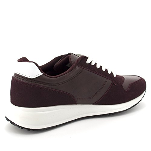 Netgozio  100231,  Herren Niedrige Sneaker Rot