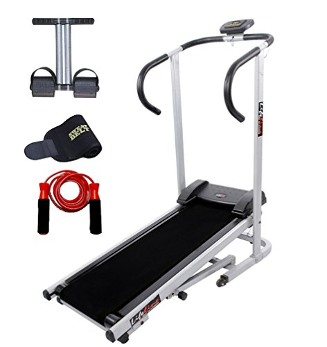 Lifeline Treadmill Machine for Walking and Running at Home| Bonus Tummy Trimmer | Skipping Rope and Sweat Belt for Stomach Exercise