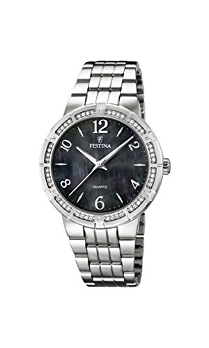 University Sports Press F16703/2 - Reloj de cuarzo para mujer, con correa de acero inoxidable, color plateado