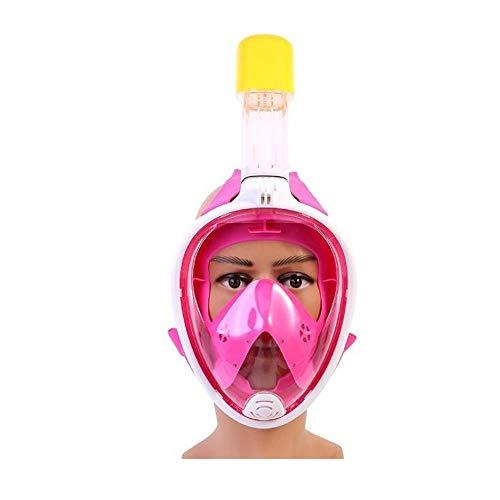 Sxuefang Volltrockene Schnorchelmaske, großes Sichtfeld - wasserdicht und beschlagfrei - extrem breites, bruchsicheres Glas