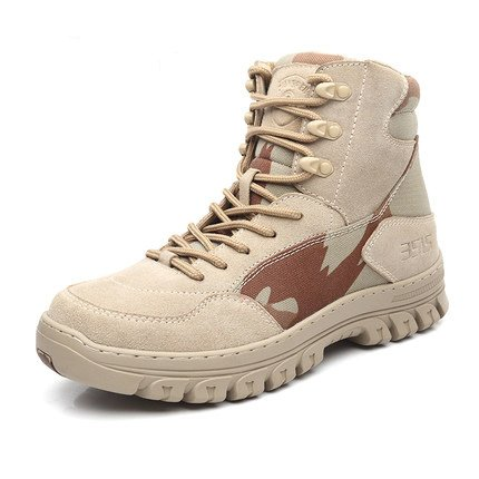 qiangren 3515Combat Leder Stiefel Military Tactical Schuhe, Camouflage - camouflage