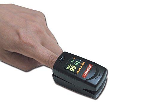 Pulsoximetro professionale OXY-6, saturimetro con schermo a colori ed allarmi