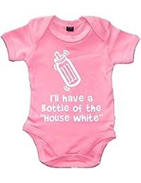 Edward Sinclair I ll Have una Botella de los HOUSEWHITE de pálido Rosa Baby Body