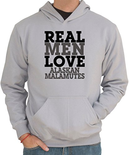 Felpa con Cappuccio REAL MEN LOVE Alaskan Malamute