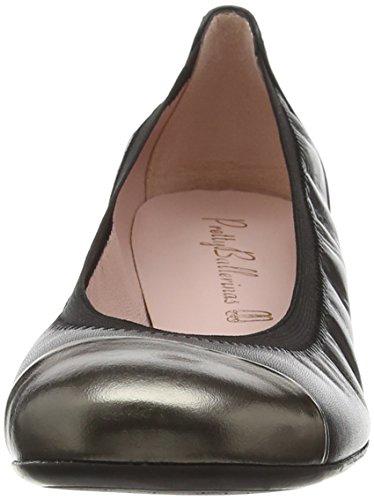 Pretty Ballerinas Damen 37190 Mirrow Fucile/Coton Negro Schwarz (Schwarz)