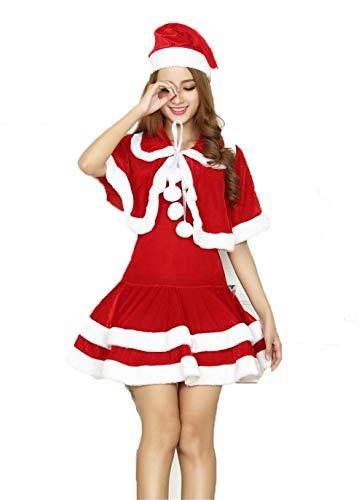 Fagginakss costumi di natale per adulti e bambini vestito per elfi di natale per bambini costume natalizio da donna,costume da donna sexy elfo natalizio   abito sexy e corto   palle di neve cucite