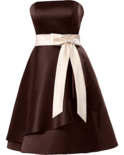 Missdressy - Robe - Plissée - Femme Dunkelschokolade