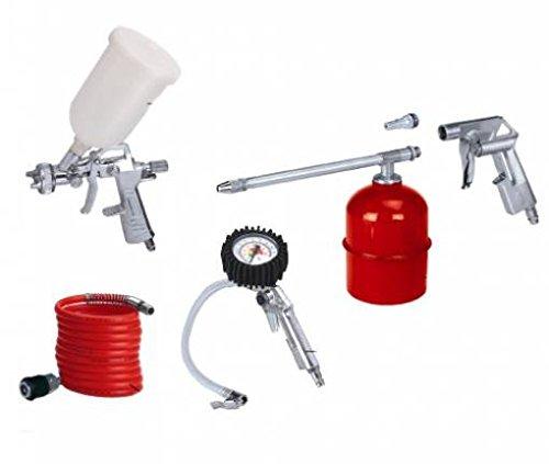 Set kit 5 accessori aria compressa compressore Einhell