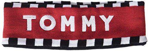 Tommy Hilfiger Logo Head Band, Cinta para la Cabeza para Mujer, Negro (Corporate 901), única (Talla del Fabricante: OS)