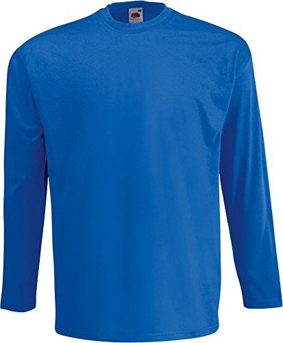 5x Fruit of The Loom T Shirt Herren Longsleeve 1x Langarm Shirt S M L XL XXL 1x (Blau Langarm-shirt)