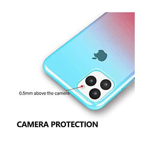 Oihxse Compatible with Samsung Galaxy S8+Plus Case Chic Clear Gradient Colour Design Ultra Slim Back Cover Skin, Soft Silicone Wireless Charge Shockproof Glitter TPU Bumper Shell-Blue Pink Oihxse 🌈 Slim fit with [Samsung Galaxy S8+Plus ONLY], do not fit for other models. This rubber silicone gel is easily access to all buttons and ports such as headphone jack, charger port, volume button, mute key, etc, while keeps the Samsung Galaxy S8+Plus sensitive response. 🌈 Designed as ultra thin chic [Crystal Clear Gradient Colour] appearance, not only can show the beauty of original smart phone, but also adds more unique taste and stylish sense. 🌈 Made from Soft [Shock Absorbing TPU]material, nontoxic and tasteless, which can protect your Samsung Galaxy S8+Plus from scratches, bumps, impacts, fingerprints and dings. 5