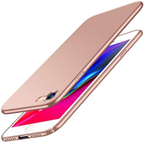 RANVOO Kompatibel mit iPhone 7 Hülle, iPhone 8 Hülle, Dünn Schlank Matt Leicht Ultra Slim Fit Hart Anti-Fingerabdruck Schutzhülle Case Schale Cover Handyhülle für iPhone 7 / iPhone 8, Rosa