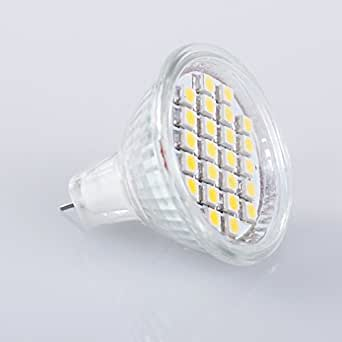 5 MR11 GU4 Warm White 24 SMD LED Office Spot Light Lamp Bulb Energy Saving 12V
