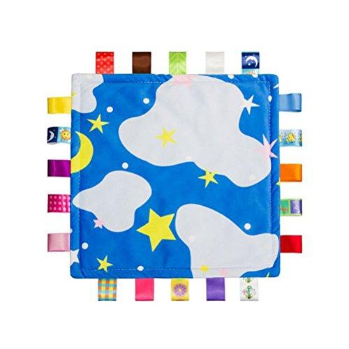 YeahiBaby Doudou per neonato Copertine di conforto sicurezza per bebè con taggies (Cielo Stellato)