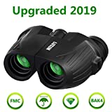 High Powered 12x25 HD Binoculars,SGODDE Compact Folding Binoculars with Low Light Night Vision