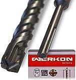SDS Max Bohrer 40mm Ø - Lang 40x800 mm - Ideal zum schnellen Bohren in Beton - Hochwertige Hartmetall Spitze - Kein Einhacken in Armierungseisen 40x800mm